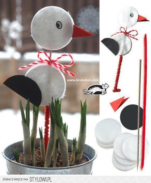 5+2 kreatív ötlet vattakorongból gyerekeknek   A napfén… na Stylowi.pl