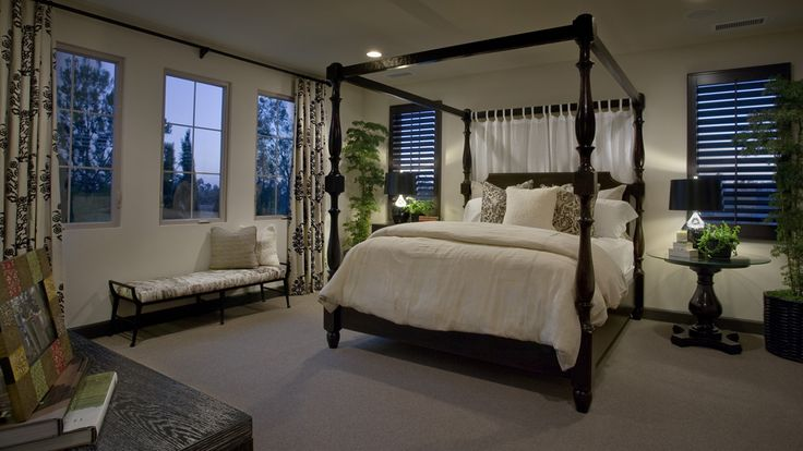 Beautiful masterbedroom design at saviero by taylor for Tropical canopy bed