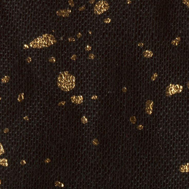 PURO TAPETE - Realistische Tapete ohne Rapport und Versatz ! Kein sich wiederholendes Muster ! 10m VLIES Tapetenrolle ! Tropfen Flecken Gewebe gold schwarz f-A-0335-j-a: Amazon.de: Küche & Haushalt