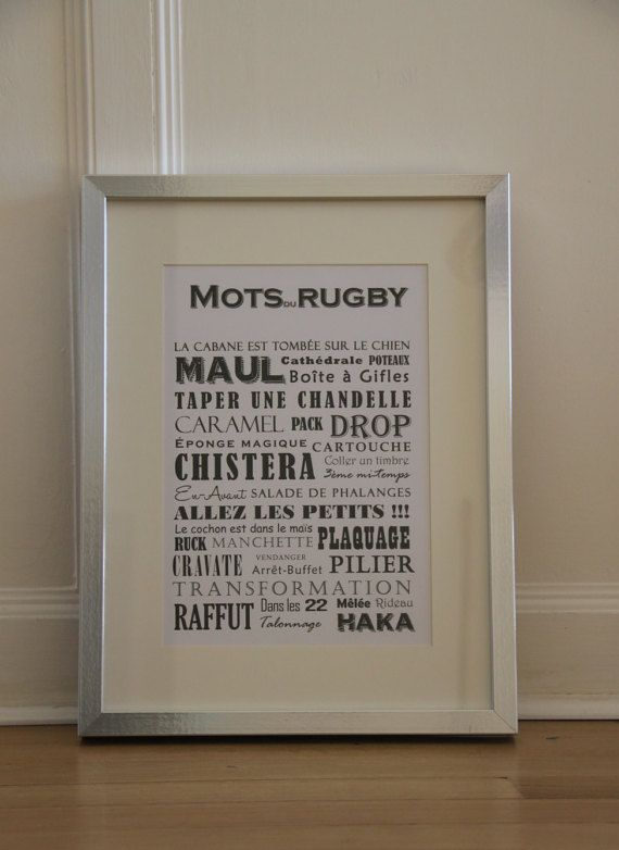 Les Mots du Rugby par LesMotsdeGudule sur Etsy