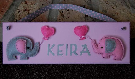 Personalised felt design Name plaque / sign. Any by FairylandDecor