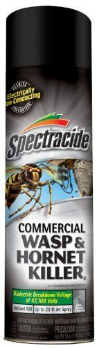 Spectracide 57637 18-Ounce Commercial Wasp and Hornet Killer, Aerosol, Case Pack of 1 by Spectracide. $10.51. 18-Ounce aerosol. Instant kill. Up to 20-feet jet spray. Electrically non-conducting, dielectric breakdown voltage of 47100-volt. Spectracide Commercial Wasp and Hornet Killer, 18oz. Aerosol - 57637