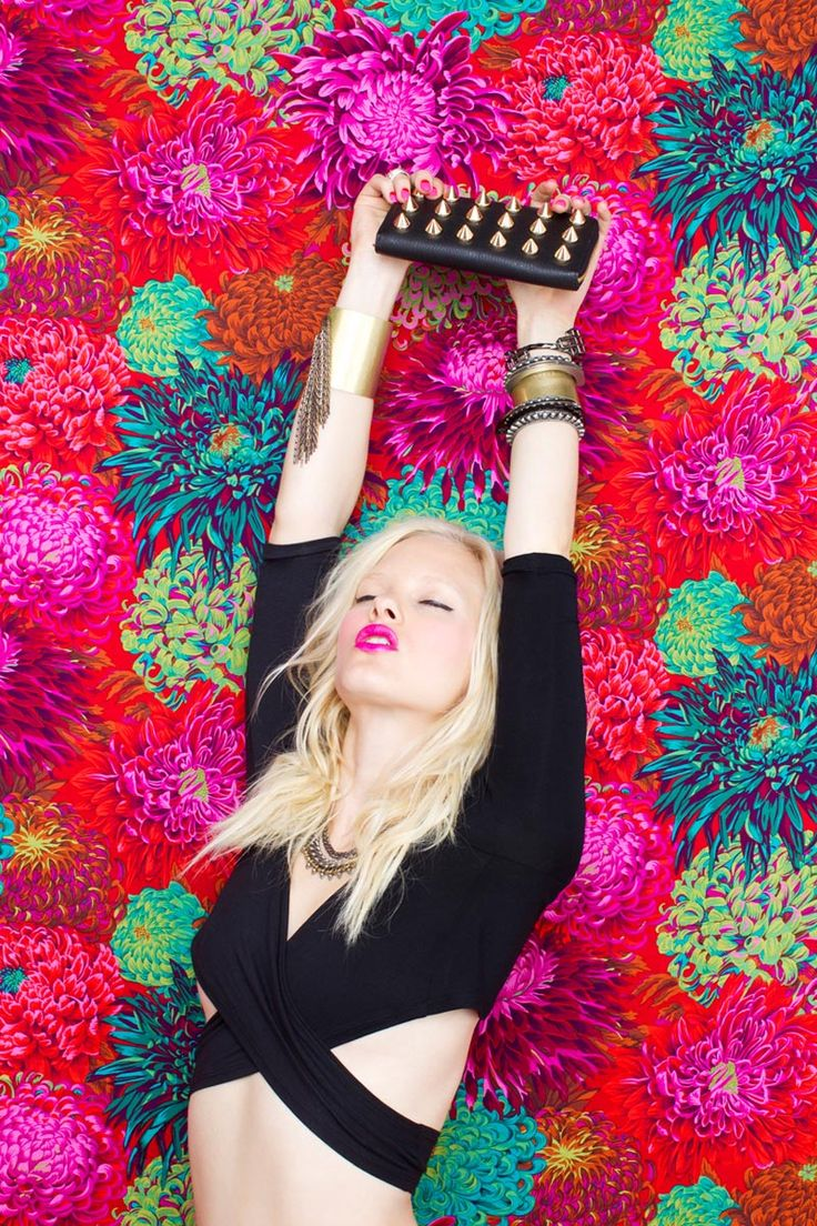 Hannah Holman taps into her inner rocker for the May lookbook from online retailer, Nasty Gal. S