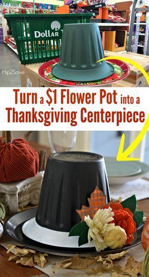 Dollar Store Thanksgiving Hat Centerpiece