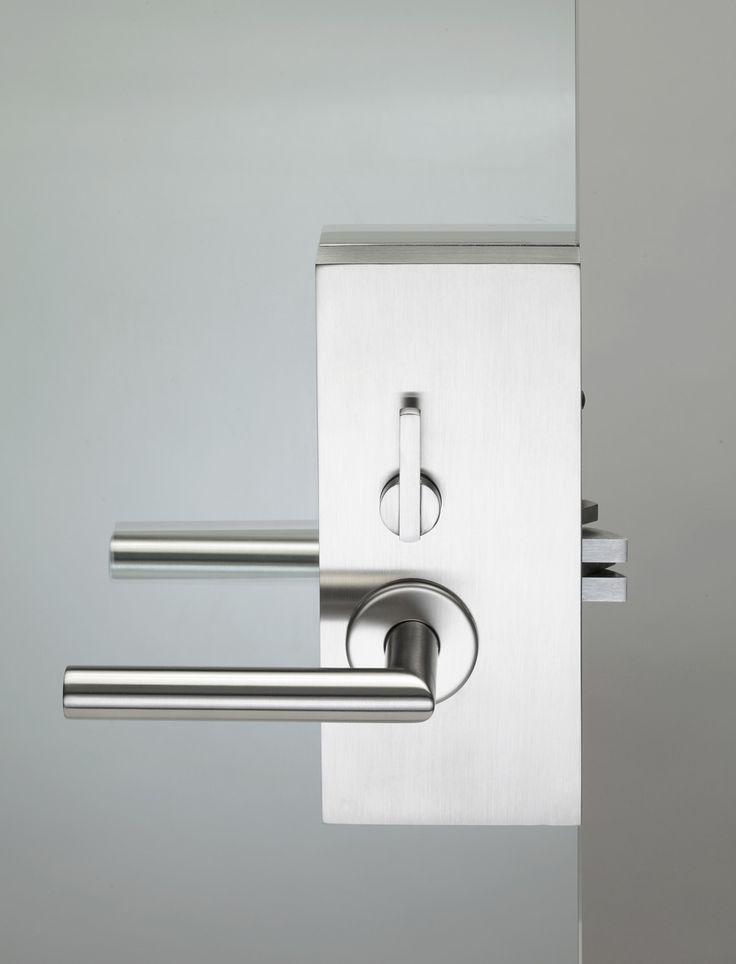 PBA Stainless Steel Mortise Lockset For Glass · Door LeversGlass ...