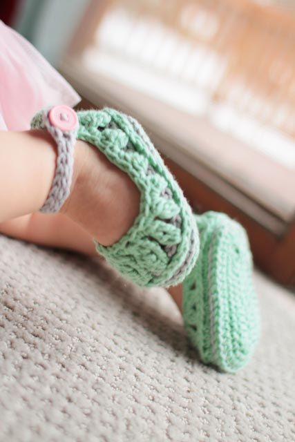 Modèle de chaussons bébé Molly Summer chaussons au par Mamachee