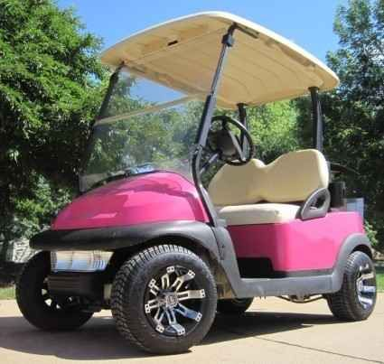 Used 2015 Gsi Magenta Pink Club Car 48V Golf Cart With Custom Rims ATVs For Sale in Illinois. Looking to travel the golf course in style? Search no more! This luxurious PT Cruiser Custom Club Car Golf Cart offers you a stylish comfortable ride around the course. This high quality electric golf cart has so many great features, it's too hard to pass up. Take a look below and you'll notice that you won't find a better deal than this. This cart has been inspected by an authorized Club Car…