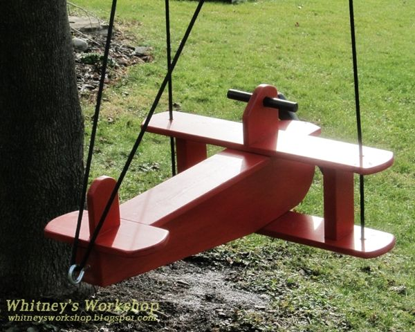 Ana White | Build a Child's Airplane Swing | Free and Easy DIY Project and Furniture Plans