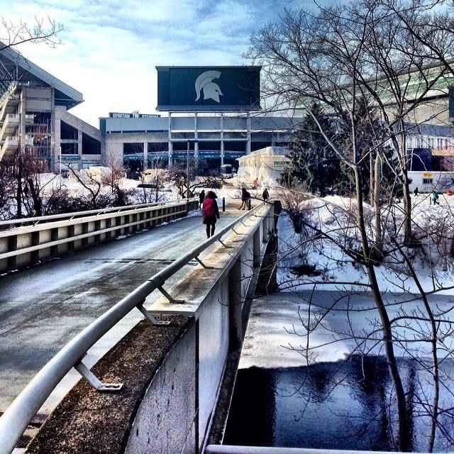 Spartan Stadium in winter, Michigan State University, East Lansing, MI