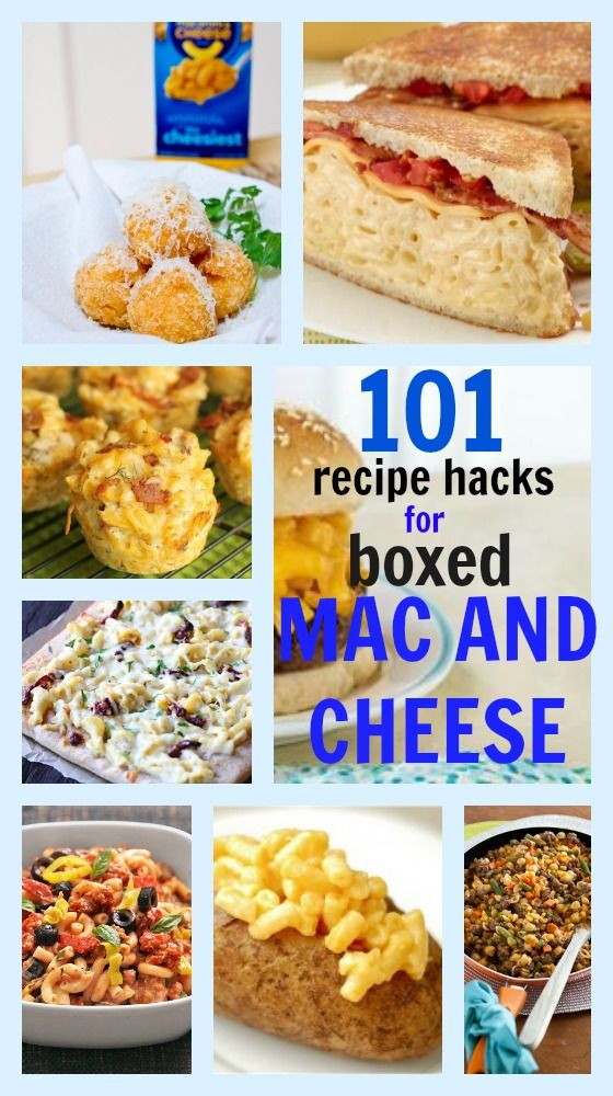 101 recipes for boxed macaroni and cheese! #macandcheese #macncheese #hacks