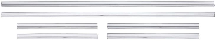 These lower body side moldings are made to the factory specifications from bright, aluminum extrusions and are easy-to-install. They are duplicates of the factory lower body side moldings and look fantastic. All of these moldings are available at an unbeatable price. Your satisfaction guaranteed!