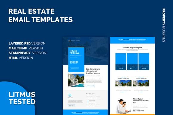 Real Estate Email Templates Email Templates Email Marketing Template Email Template Design