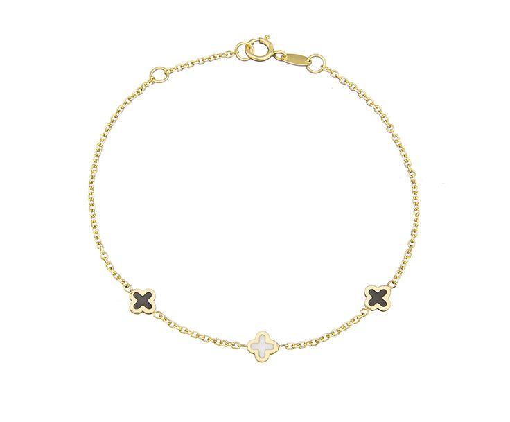 gold bracelet with smalto!