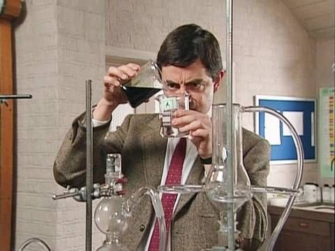 Quick Clip------Mr Bean - Back to School For Some Chemistry and Art!!--- Mr Bean visits a school open day. He blows up a chemistry lab and escapes into a life drawing class. From Back to School Mr Bean.