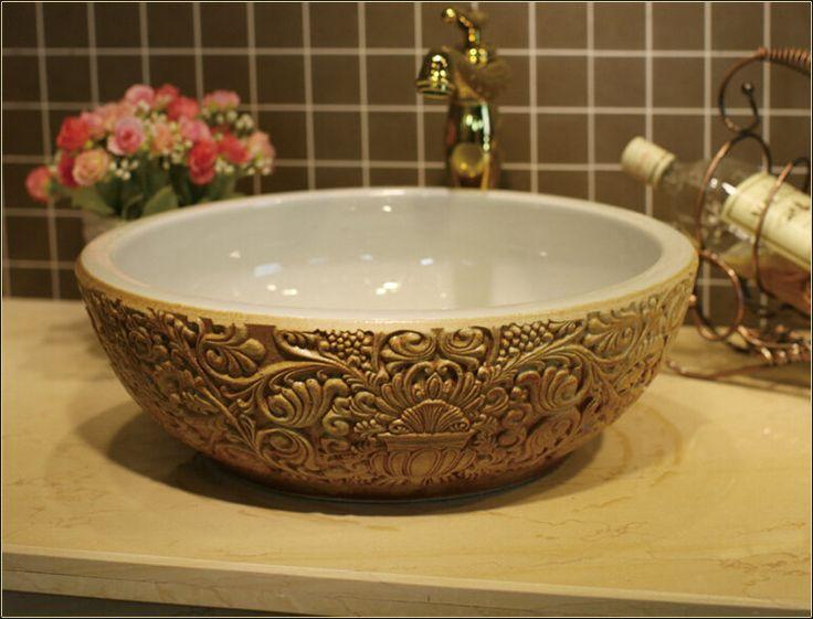 Alibaba グループ | AliExpress.comの 浴室の シンク からの を購入するときには私たちのシンク、 あなたは、 自動的に以下を得るシンク自由のための部品同時に。  1.基本パッケージは無料、 注文を配置する必要がない。 それは自動的にと共に送られたシンク。 中の 3色、 深い エン ボス加工セラミック洗面軟膜banheiro ラウンド カウンター浴室シンク洗面