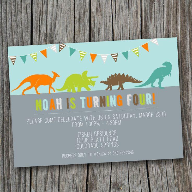 191 best dinosaur party images on pinterest | dinosaur party, Birthday invitations