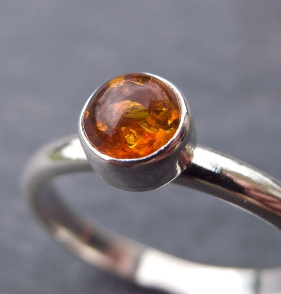 Amber and silver stacking ring.: Silver Stacking, Golden Inspirations, Amber Ring, Amber Sterling, Sterling Silver, Style Pinboard, Stacking Rings