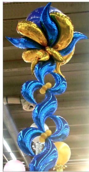 Mylar Crescent Balloon Pillars