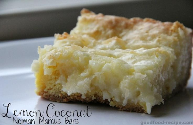 Lemon Coconut Neiman Marcus. This is it!  This is the bar you will make over and over again this spring and summer.  Trust me…you'll make it once, everyone will love it and then you&#82…