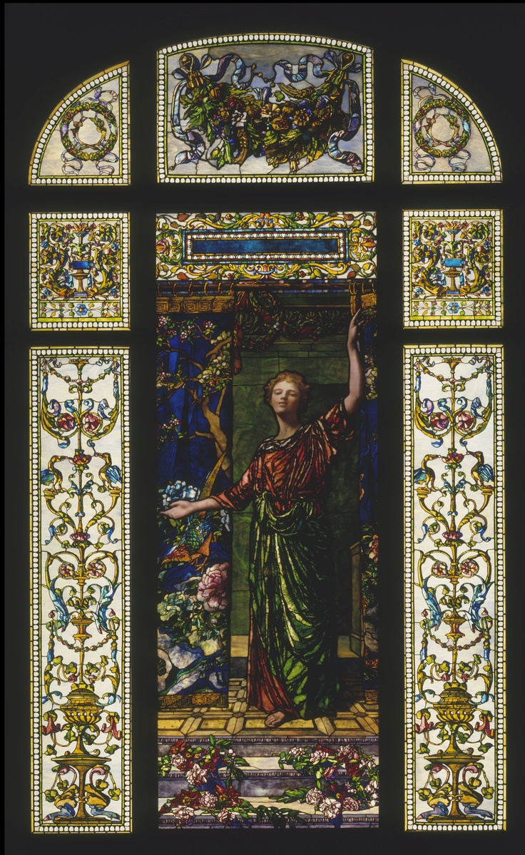 John La Farge (1835–1910)  Welcome window  New York City, 1909  Painted and leaded opalescent glass  Anonymous Gift, 1944 (44.90)