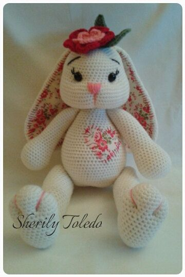 This is a DOWNLOADABLE PATTERN only. This is NOT for the actual amigurumi doll.  Meet BABY BUNNY BLOSSOM. She is simply precious and simple to make.  Finished size: 16 1/2 inches  Skill level: Easy to Medium (single crochet, increase, decrease, double crochet, half double crochet)  If you have any problems following the pattern, please feel free to contact me.  *You may sell your finished item & post pictures as long as you give credit to Pattern Designer/Author: Sherily Toledo ...