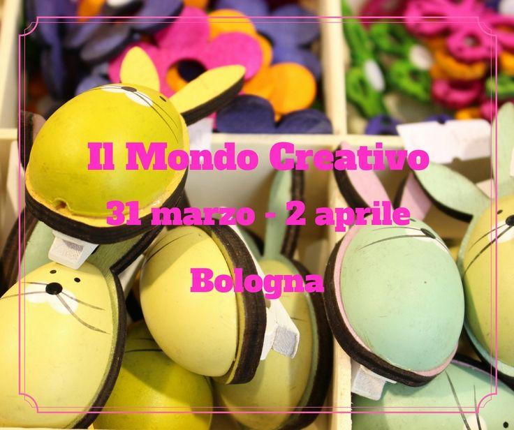 Ci siamo quasi...-1!!! Da domani vi aspetta un weekend all'insegna della creatività! Dalle 9.30 alle 19 in fiera a Bologna.