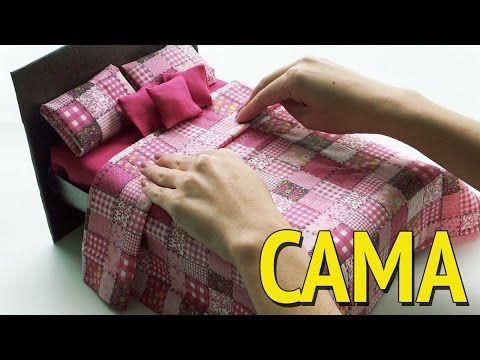 Coisas que Gosto: Como fazer uma Cama para Barbie e outras Bonecas c...