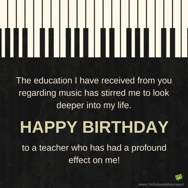 Best 25 Birthday wishes for teacher ideas – Birthday Greeting with Music