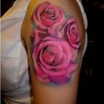 Realistic Pink Roses Tattoo – Chris Nieves