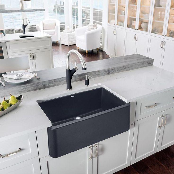"Blanco Ikon 30"" Apron Front Granite Composite Sink In SILGRANIT PuraDu – Showroom Sinks"