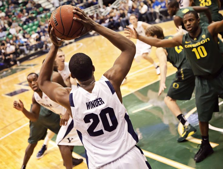 Anson Winder BYU Cougars Basketball vs Oregon Ducks Energy Solutions Arena