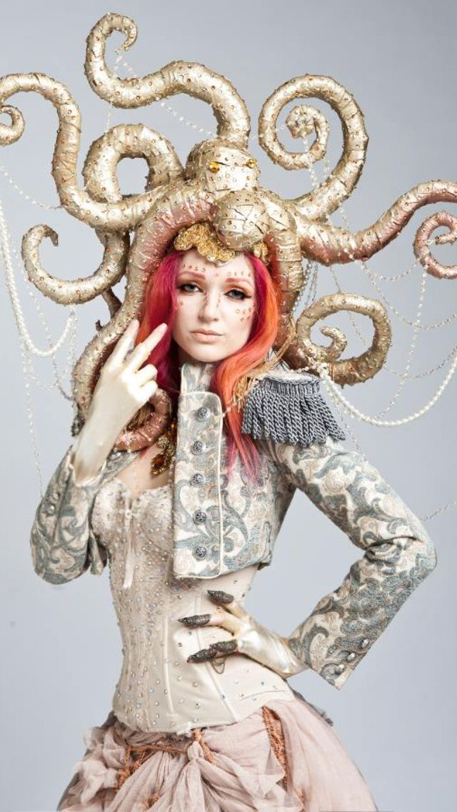 Steampunk - Octopus Hat. Check out http://www.designyourownperfume.co.uk to design your perfect custom perfume to complement your quirky steampunk style.