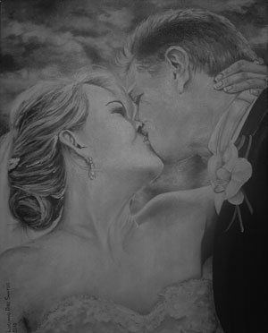 Black and white acrylic painting done by me.