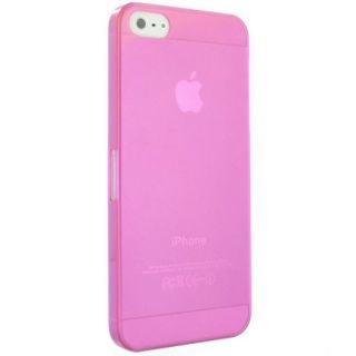 Farget transparent deksel til iphone 5 - rosa