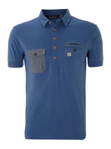 Duck and Cover Double pocket marl polo Navy - House of Fraser