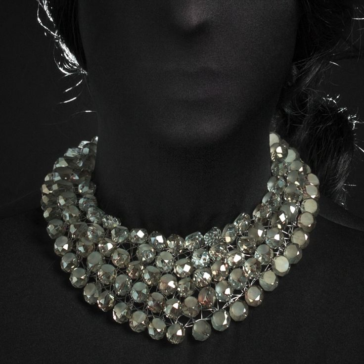 Got tight last night on absinthe - E. Hemingway #Crystal-Rain Collection @nightmarket.it / #051 absinthe #necklace #jewellery #accessories