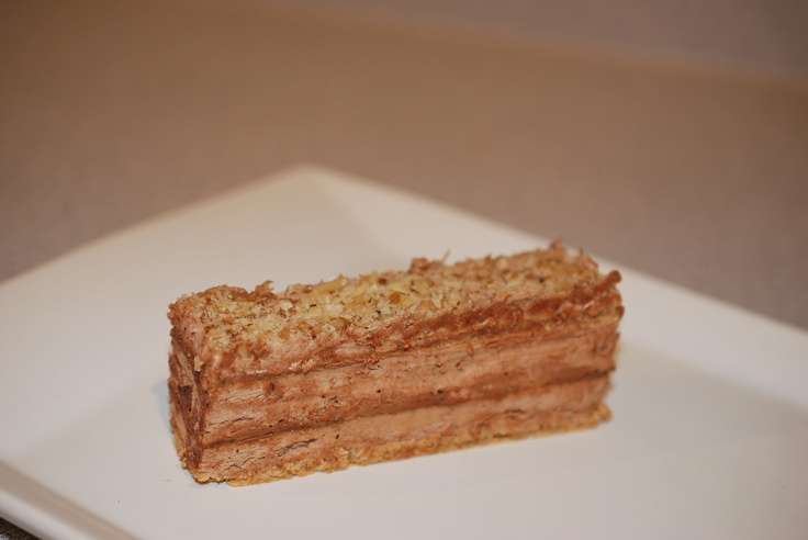 Reform Torte - Decadent layers of egg white and walnuts filled with chocolate cream. http://www.jadrankapastries.com/