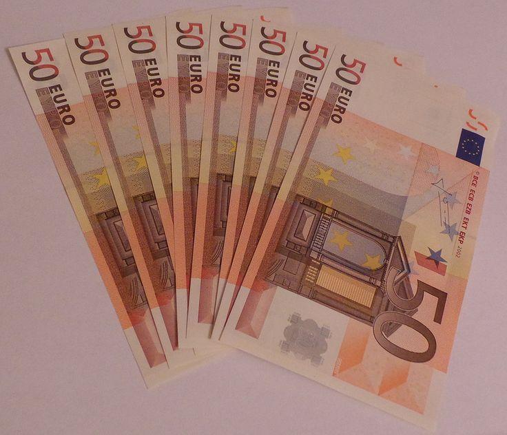 400 Euro In 50 Euro Scheinen 50euroscheinen Euro Mit Bildern