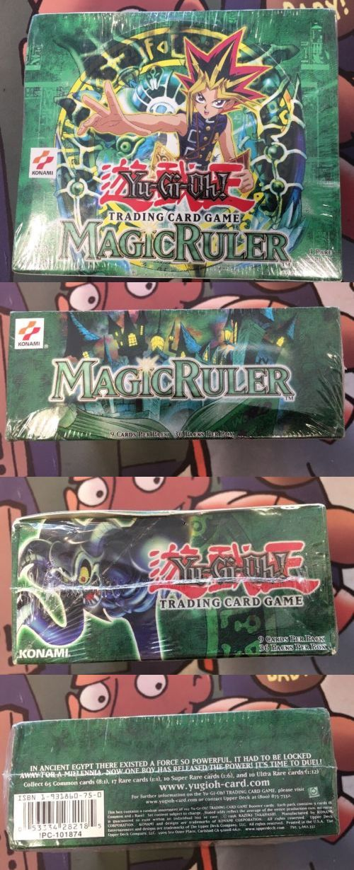 Yu-Gi-Oh Sealed Booster Packs 31396: Yugioh Magic Ruler Booster Box Factory Sealed 36 Packs Yu-Gi-Oh! -> BUY IT NOW ONLY: $250 on eBay!