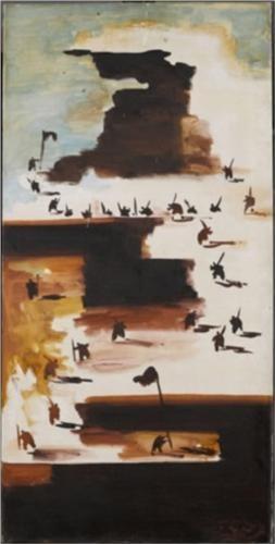 Abidin Dino (1913 - 1993) | Surrealism | Uzun Yürüyüş (Long March) - 1956