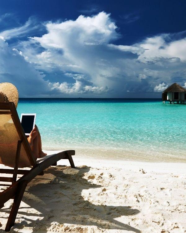 White Sand Beach In Maldives