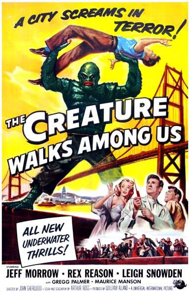 A great poster from the third installment of the Creature from the Black Lagoon movie trilogy - The Creature Walks Among Us! Ships fast. 11x17 inches. Need Poster Mounts..?