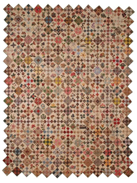 This quilt would make me go blind! How long did it take for the quilter to make this piece, I wonder?!
