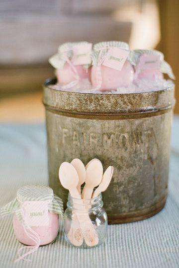 Ice cream in Mason Jars by Jose Villa and Lisa Vorce