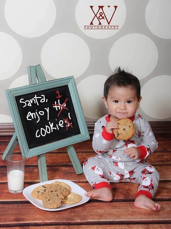 This baby who ate Santa's cookies