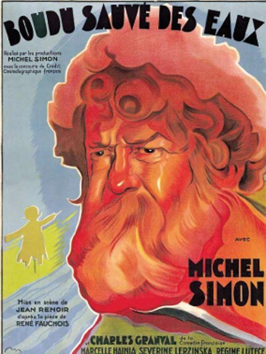 Boudu sauvé des eaux : Affiche Jean Renoir, Michel Simon