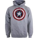 Geek Clothing Marvel Mens Captain America Sheild Hoody - Bring out your inner superhero with this Marvel Mens Captain America Sheild Hoody. This regular fit hoody is officially licensed, features a drawstring hood and a stylised print on the front. Details  http://www.MightGet.com/january-2017-11/geek-clothing-marvel-mens-captain-america-sheild-hoody-.asp