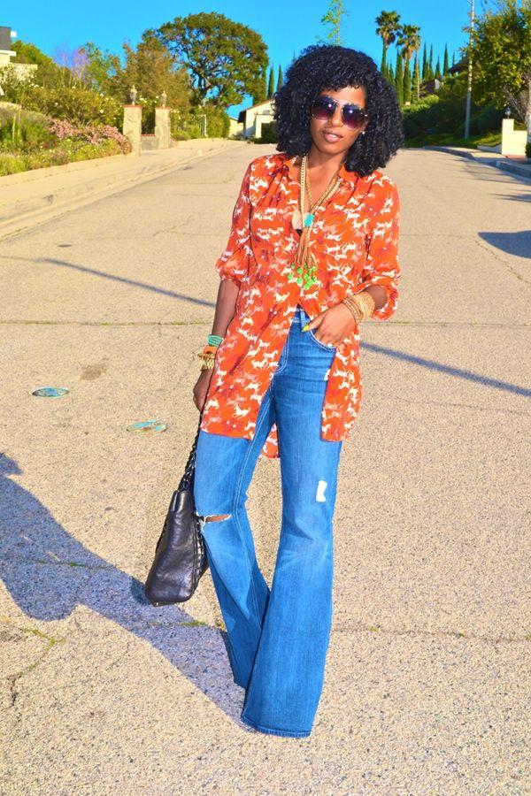 70's Women Bell Bottom Jeans
