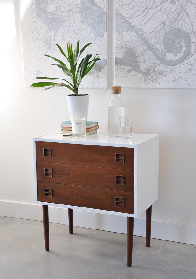 diy modern vintage furniture makeover. vintage mid century modern chest of drawers gets a makeover with paint and stain lot elbow grease diy furniture h