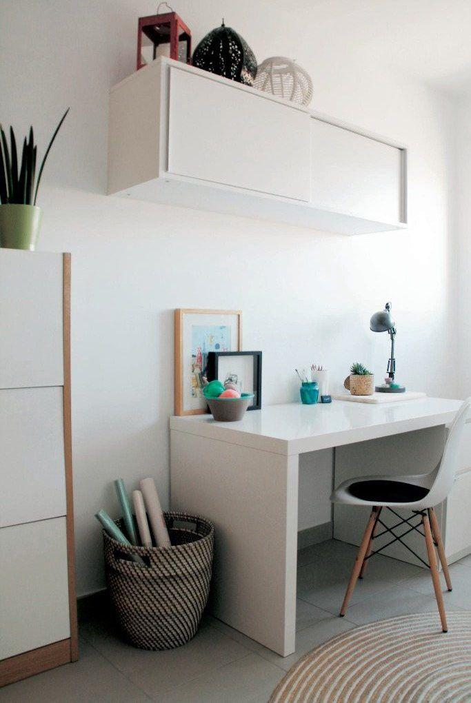 'El escritorio MALM es el escenario ideal para dejar volar la imaginación. Paso muchas horas en este rincón tan soleado y despejado'.